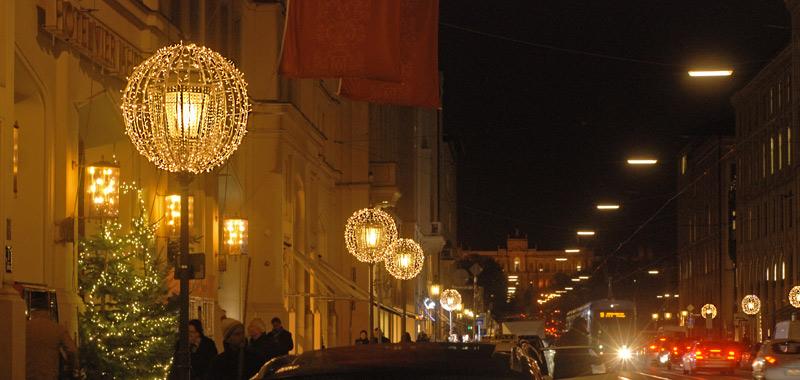 Exklusive Weihnachtsbeleuchtung Maximilianstrasse München