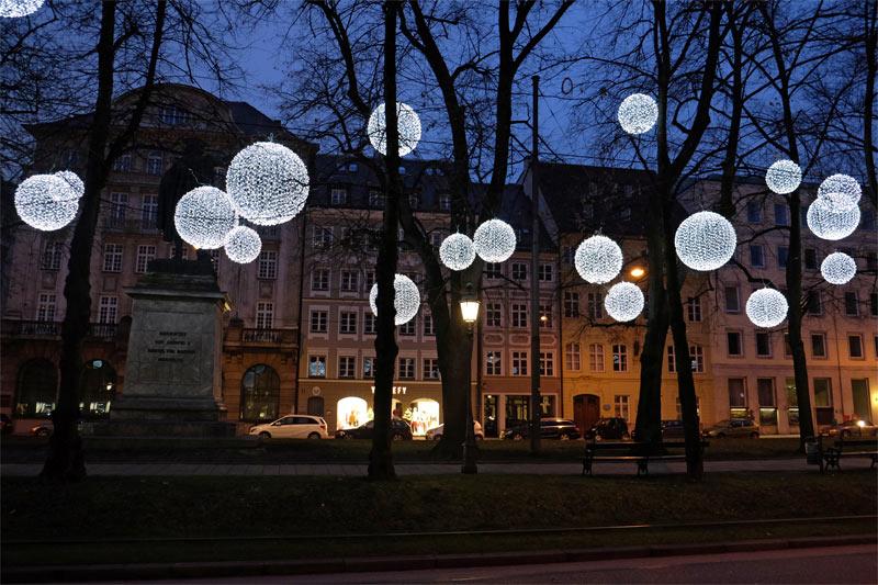 Lichtinstallation Promenadeplatz München