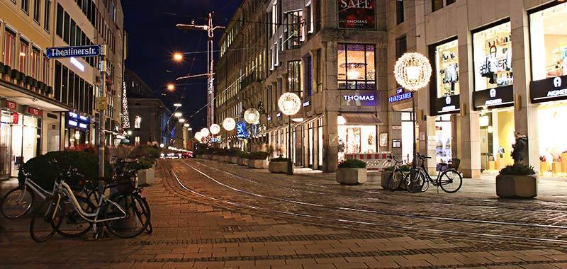 Professionelle Weihnachtsbeleuchtung München