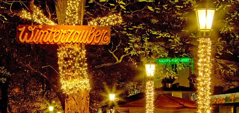 Besondere Weihnachtsbeleuchtungen für München